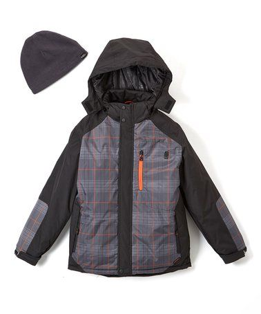 This Sharkskin Gray System Jacket & Beanie - Boys is perfect! #zulilyfinds