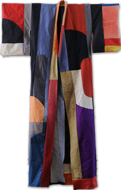 Dyed and hand stiched cotton. Pia Camil, 'Túnica,' 2014. 259x165cm