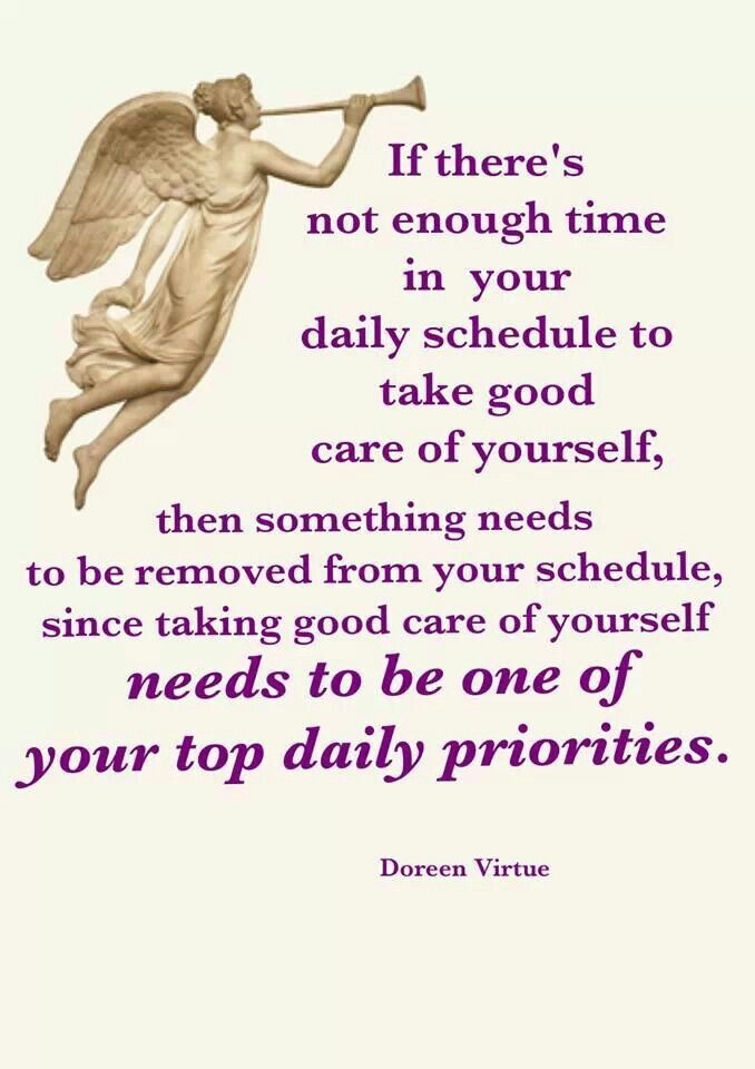 Take care of yourself - Doreen Virtue #empath #selfcare                                                                                                                                                                                 More