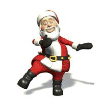Animated Clip Art   Santa Claus animations, Father Christmas clip art and moving Saint ...