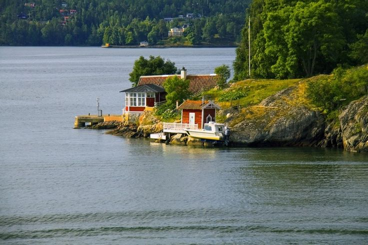 This red house in Sweden on the Stockholm Archipelago.