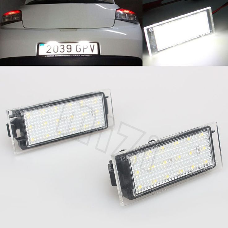 Promo offer US $10.83  2Pcs Car LED Number License Plate Light SMD3528 For Renault Megane 2 Clio Laguna 2 Megane 3 Twingo Master Vel Satis