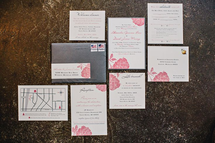 Style Me Pretty Blog - 6.25 Paper Wedding Invitations. K. Holly Photography - kholly.com