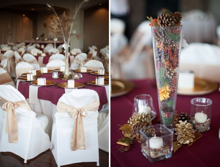 Burgundy U0026 Gold Wedding Colors