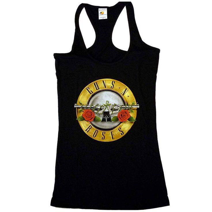 Guns n Roses bullet girly racerback tank top.  Available here: http://heavymetalmerchant.com/product/guns-n-roses-bullet-girly-racerback-tank-top