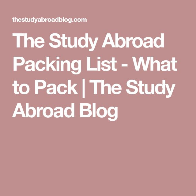 The Study Abroad Packing List - What to Pack | The Study Abroad Blog