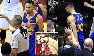 Curry scored 30 points for the Golden State Warriors in the 115-101 defeat to the Cavaliers, but was ejected for the first time in his career in the fourth quarter after picking up his sixth foul.