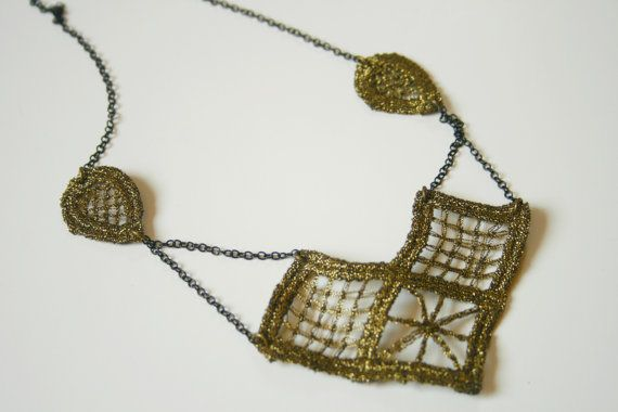 Gloria lace necklace / only ONE by ganbayo on Etsy, $20.00