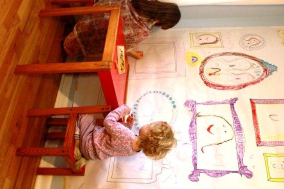 DIY Frame Wallpaper for Kids Art