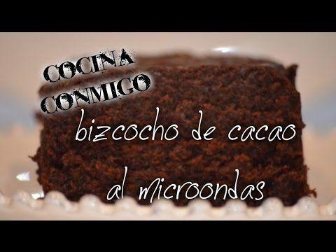 bizcocho de cacao al microondas - YouTube