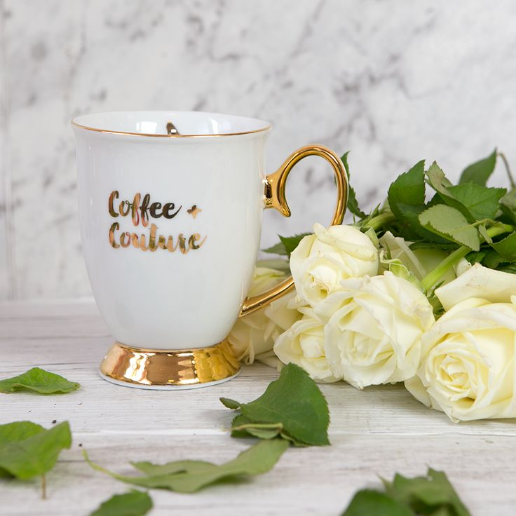 Cristina Re - 'Coffee and Couture' Mug - 24ct Gold Plated