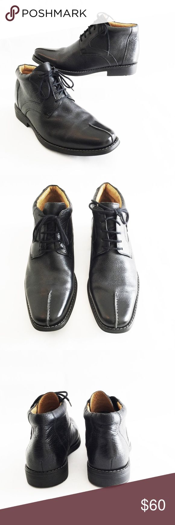 SANDRO MOSCOLONI 10.5 D Black Leather Lace Up SANDRO MOSCOLONI Black Leather Lace Up Chukka Ankle Boots, Size 10.5D  Excellent, pre-owned condition Sandro Moscoloni Shoes Boots