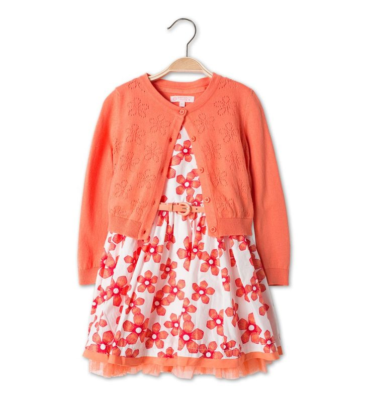 Outfit in wit/oranje