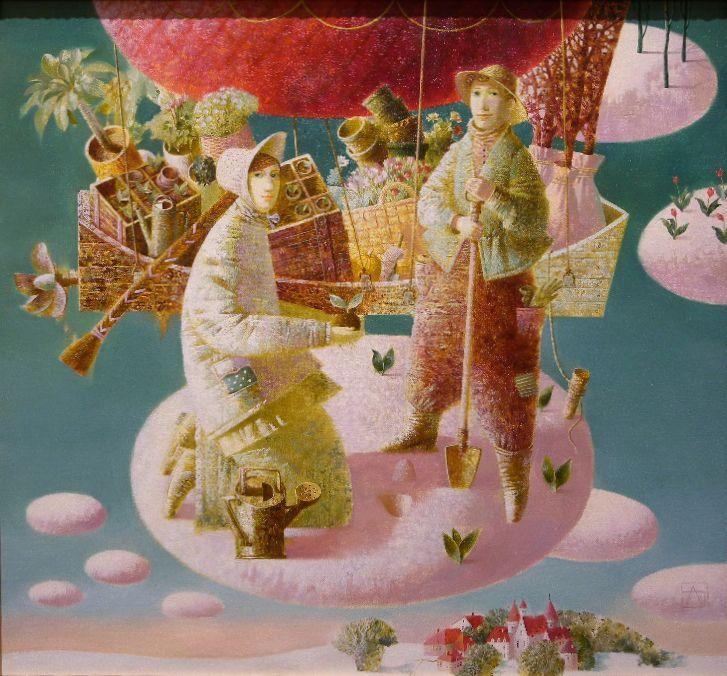 "Hora de plantar flores / Time to Plant Flowers"" Anna Berezovskaya"