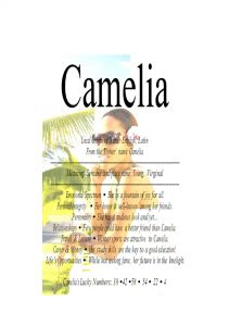 Camelia name means young