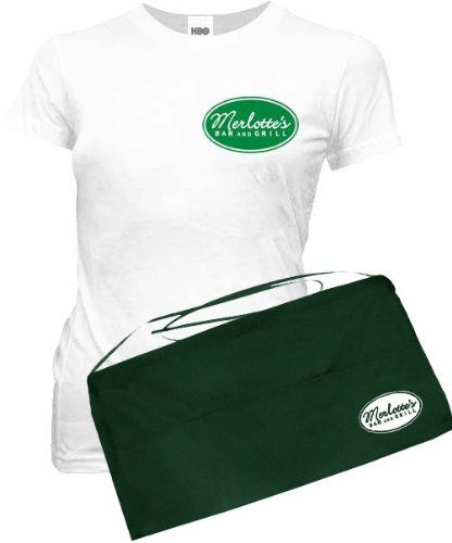 True Blood Sookie Stackhouse Merlotte's Bar & Grill T-shirt and Apron Costume Set: Amazon.com: Clothing