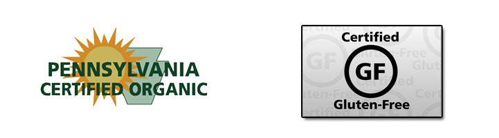 Gluten Free & Kosher Certification - Pennsylvania Certified Organic