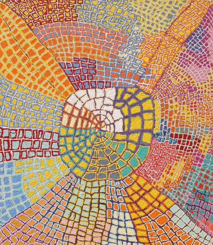 Mary Napangardi Brown  Mina Mina Jukurrpa (Mina Mina Dreaming)  Acrylic on Linen, 2009  107 x 91 cm