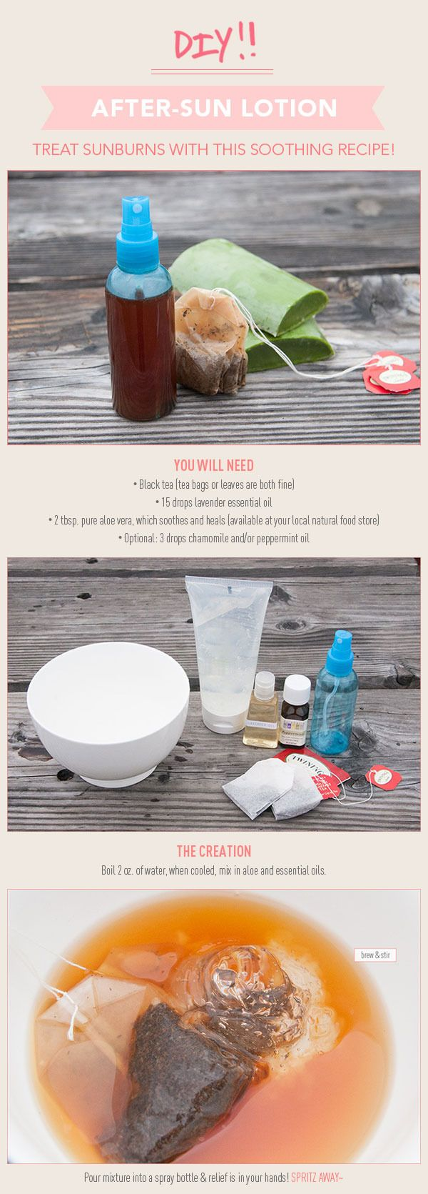 Easy DIY After-Sun Lotion