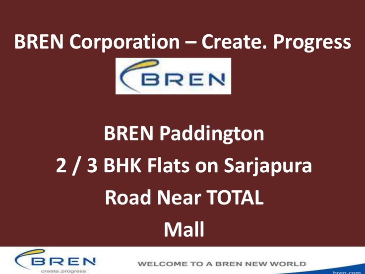 bren-paddington-sarjapura-road-apartments2-3-bhk by brencorporation via Slideshare