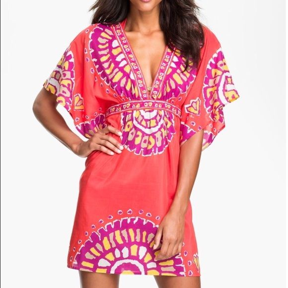 Trina Turk Swim Cover-up Trina Turk swim cover-up. Purchased for my honeymoon. Worn once! Has been dry cleaned, is ready for its new home! Perfect condition! No rips or stains found. Trina Turk Swim Coverups