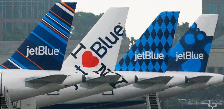 JetBlue Airways planes, each with distinctive tail art, are seen Oct. 25, 2011, at the JetBlue terminal at Long Beach Airport in Long Beach, Calif. (Photo: Reed Saxon, AP)    JetBlue is back in Atlanta, officially returning to the world's busiest airport after an absence of more than 13... http://usa.swengen.com/jetblue-back-in-atlanta-after-absence-of-more-than-13-years/