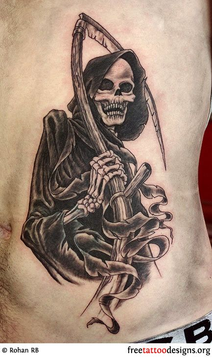Grim Reaper tattoo- nick would love this!