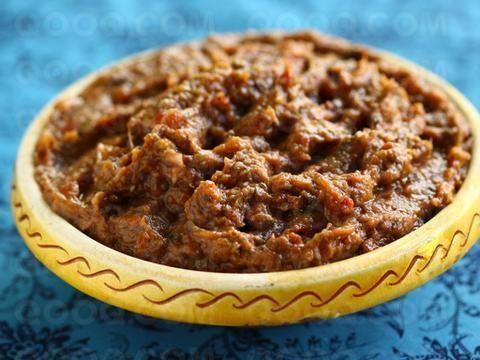 Zaalouk, eggplant warm salad