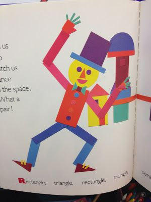 Kindergarten Kids: Shape Man This could be fun and show Picasso's Three Musicians!!