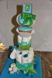 lekker zoet: cupcake luier taartje voor Teun