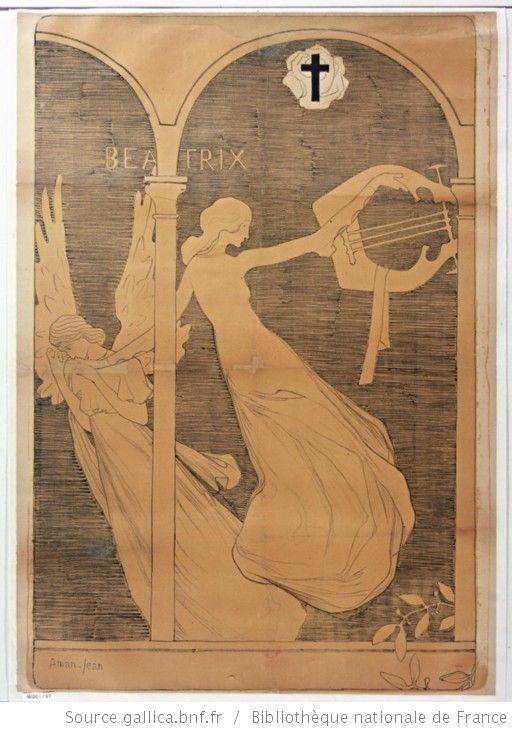 Beatrix 2eme salon rose croix 1893 affiche avant for Salon rose croix