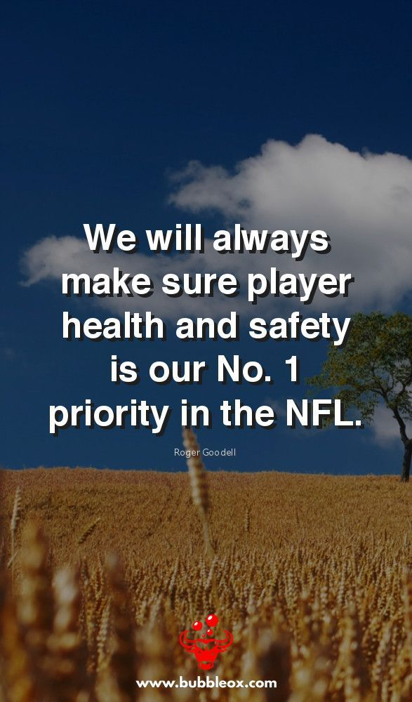 """""""We will always make sure player health and safety is our No. 1 priority in the NFL."""" -Roger Goodell  bubbleox.com/ #health #healthcare #wellness #healthylifestyle #HealthyFood #HealthyLiving #healthandwellness #healthandfitness #HealthForAll #healthtips #healthychoices #HealthisWealth #awareness"""