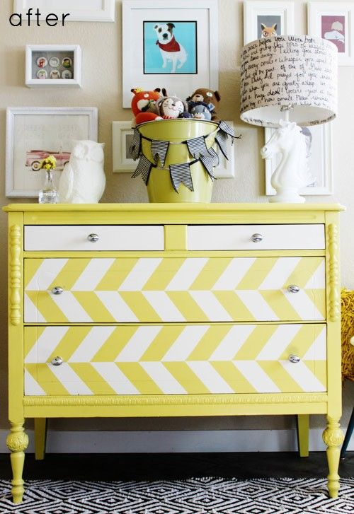 Chest of drawers | RedTop Workshop- instead of yellow, do black!(: