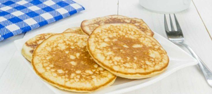 Rigtigt lækre og luftige pandekager til et lille mellemmåltid. Det er nemt indeholder få kalorier og masser af protein.