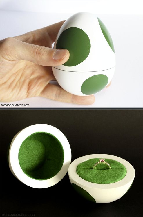 Yoshi egg engagement ring box for all those die hard computer geek husbands to be...