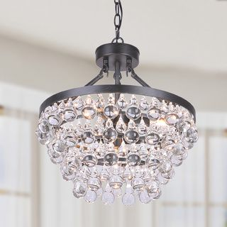 Add a touch of sparkling elegance to your home with this Ivana 5-light crystal chandelier. This pretty antique black chandelier works well in either traditional or contemporary home designs, due to it