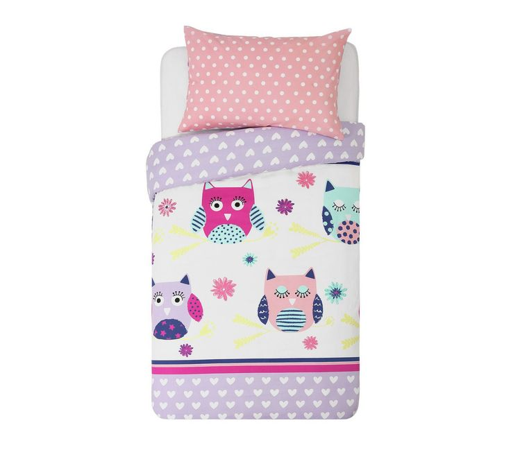 Buy HOME Owls Children's Bedding Set - Single at Argos.co.uk, visit Argos.co.uk to shop online for Children's bedding sets, Bedding, Home and garden