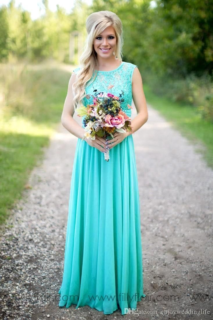 2016 new teal courty bridesmaid dresses scoop chiffon beaded lace v backless long bridesamids dresses for wedding ba1513
