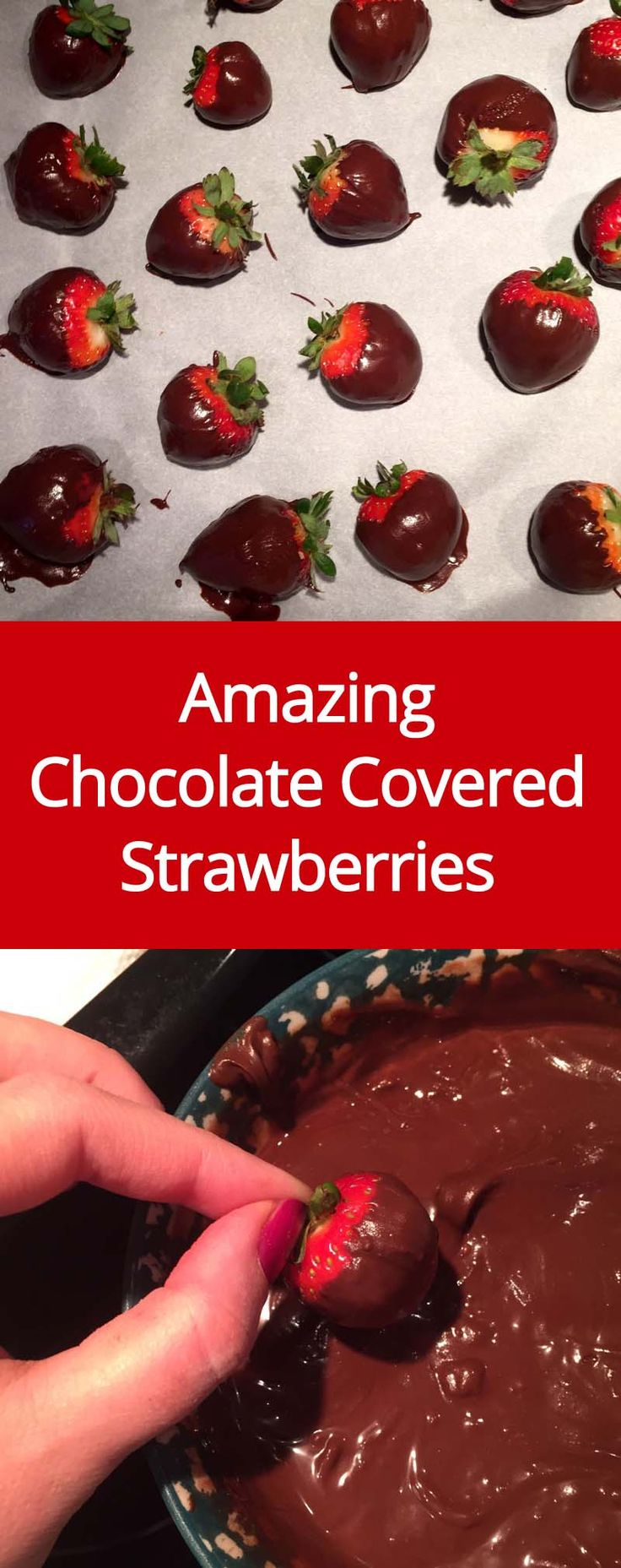 Easy Chocolate-Covered Strawberries Recipe - How To Make Chocolate Dipped Strawberries | MelanieCooks.com