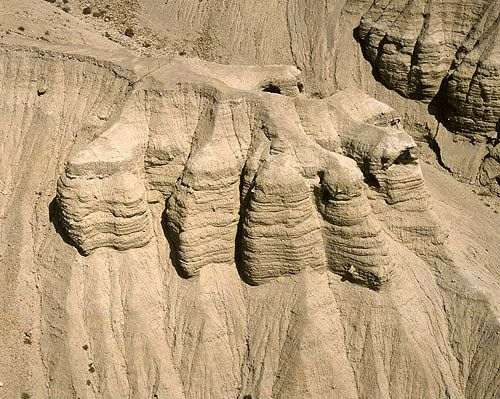 Dead Sea Scrolls Caves | ... of prehistoric caves where Dead Sea scrolls were found in 1947, Israel