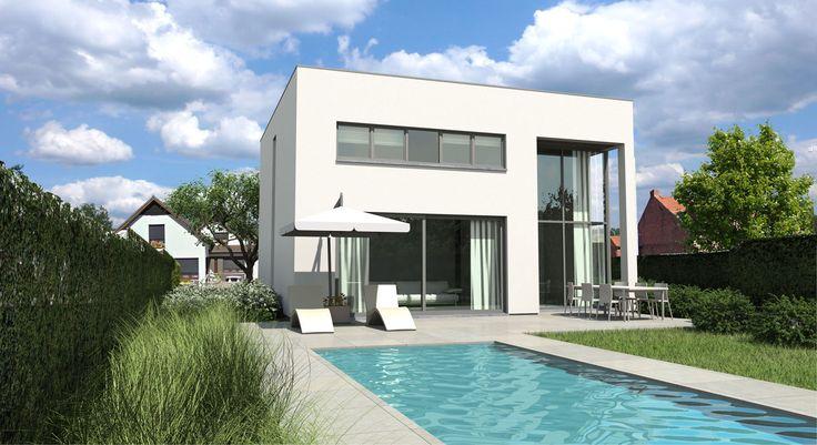 Iets te klein maar wel mooi archictectuur pinterest tes search and google - Landscaping modern huis ...