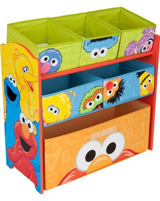 Kids can help sort and store all of their toys, shoes, and more in this colorful #SesameStreet organizer! Click above to buy one for your child's room.