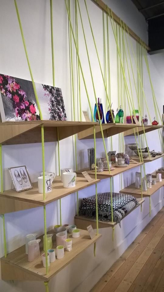 Our new look wall at National Centre fro Craft and Design Shop