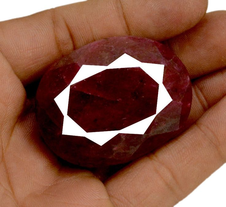 610ct Natural Faceted Oval Shape Blood Red Ruby Earthmiend Loose Gemstone #krishnagemsnjewels