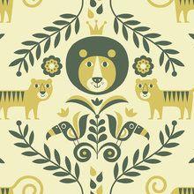 Tapet - Jungle - Yellow