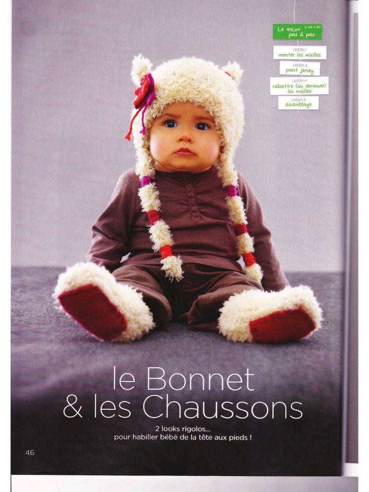 Aperçu du fichier Bonnet rigolo et chaussons.pdf
