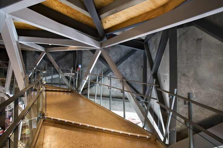 Insdie the AJ Hacket Bungy building, Queenstown, New Zealand / Patterson Architects