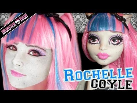 ▶ Rochelle Goyle Monster High Doll Costume Makeup Tutorial for Cosplay or Halloween - YouTube