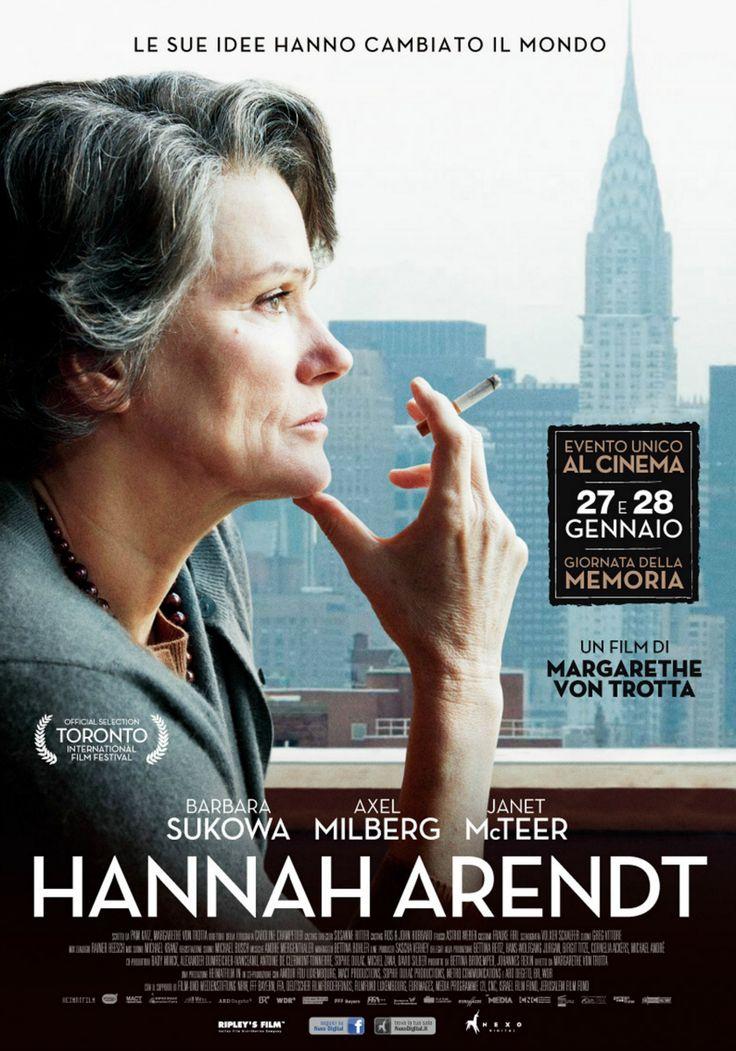 Hannah Arendt, il 27 e 28 gennaio al cinema.