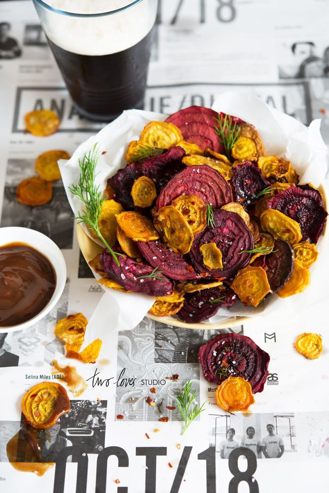 Red & golden beat chips | Pinned to Nutrition Stripped | Side #beet #chips #nutritionstripped
